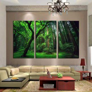 Zen Woods 3 Delige Canvas Wall Art